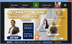 Read more about the article ZOOM Automatic Income Business Opprtunity NET89 Support System Dollar Hunter – Passive Income Tanpa Repot serba OTOMATIS – SmartXBot Robot Pintar Trading